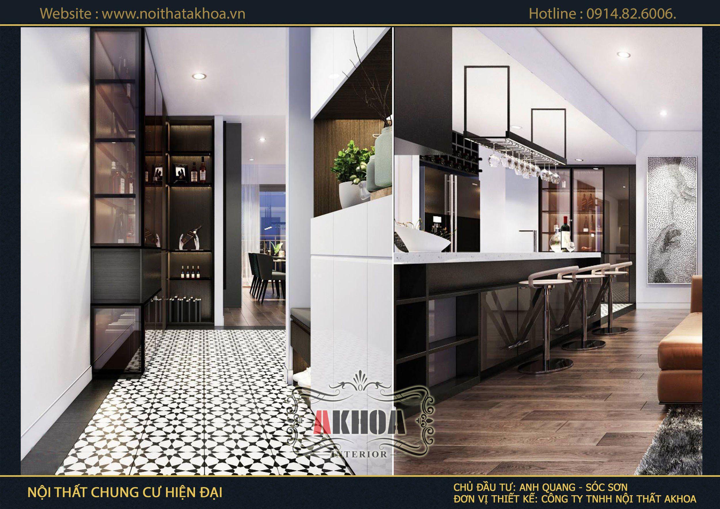Dự án thi công nội thất chung cư tại Sóc Sơn